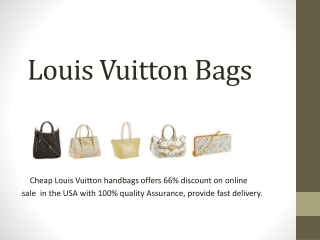 Louis Vuitton Handbags At Huge Discount of 66% in USA.