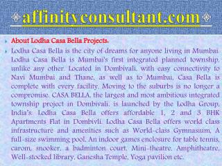 lodha casa bella affordable dombivali 09999684166 projects