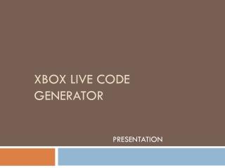 Xbox live code genrator