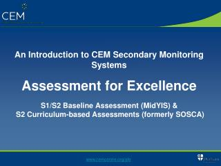 An Introduction to CEM Secondary Monitoring Systems  Assessment for Excellence    S1