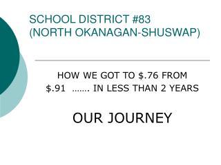 SCHOOL DISTRICT 83 NORTH OKANAGAN-SHUSWAP