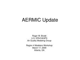 AERMIC Update