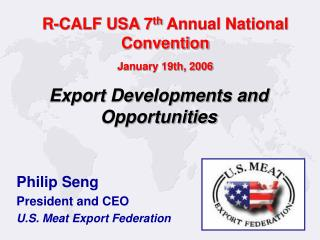 R-CALF USA 7th Annual National Convention  January 19th, 2006