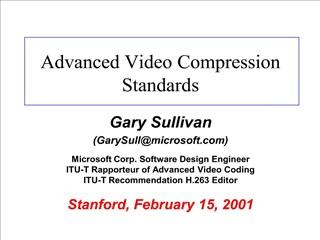 advanced video compression standards