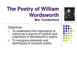 The Poetry of William Wordsworth Mrs. Cumberland