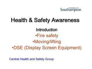 Health  Safety Awareness