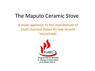 The Maputo Ceramic Stove