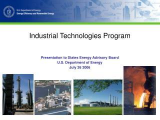 Industrial Technologies Program