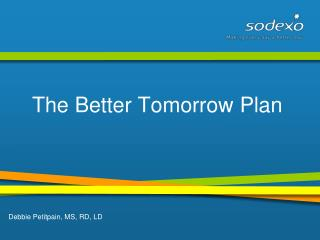 The Better Tomorrow Plan