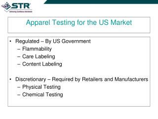 apparel testing for the us market