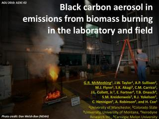 Black carbon aerosol in emissions from biomass burning in the laboratory and field