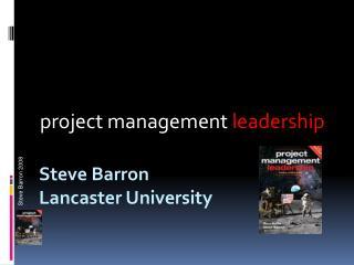 Steve Barron Lancaster University