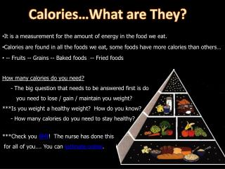 Calories What are They