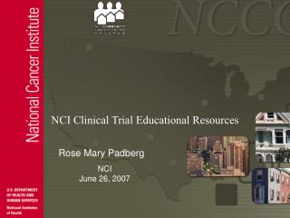 NCI Clinical Trial Educational Resources