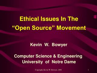 ethical issues in the   open source  movement