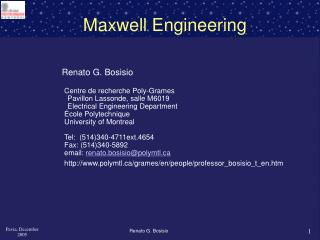 Maxwell Engineering
