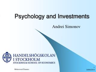 Psychology and Investments