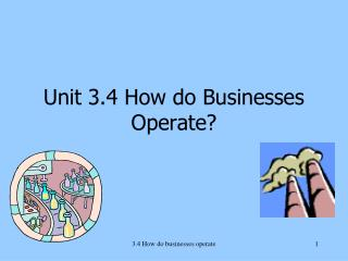 Unit 3.4 How do Businesses Operate