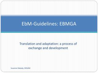 EbM-Guidelines: EBMGA