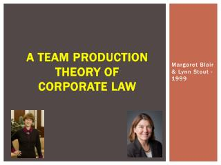 A Team Production Theory of Corporate Law