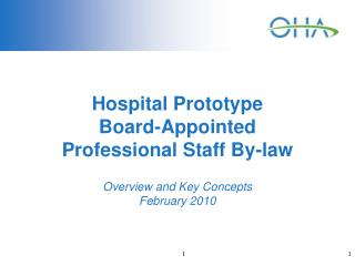 Hospital Prototype  Board-Appointed  Professional Staff By-law