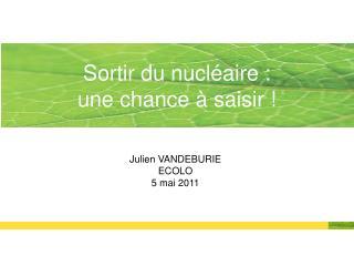 Julien VANDEBURIE ECOLO 5 mai 2011