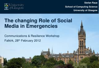 The changing Role of Social Media in Emergencies
