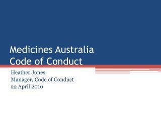 Medicines Australia Code of Conduct