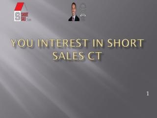 short sales in Connecticut