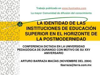 Trabajo publicado en ilustrados  La mayor Comunidad de difusi n del conocimiento   LA IDENTIDAD DE LAS INSTITUCIONES DE