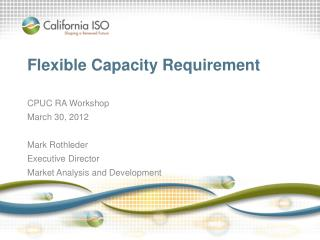 Flexible Capacity Requirement