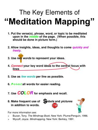 The Key Elements of  Meditation Mapping