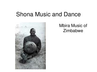 Shona Music and Dance