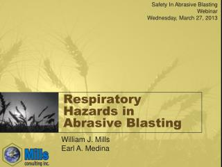 Respiratory Hazards in Abrasive Blasting