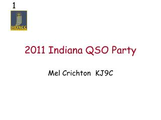 2011 Indiana QSO Party