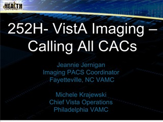 252h- vista imaging   calling all cacs