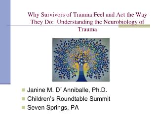 Why Survivors of Trauma Feel and Act the Way They Do:  Understanding the Neurobiology of Trauma
