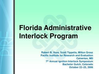 florida administrative interlock program