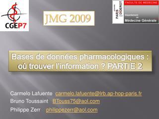 Bases de donn es pharmacologiques : o  trouver l information  PARTIE 2