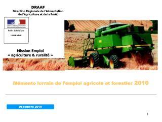 M mento lorrain de l emploi agricole et forestier 2010