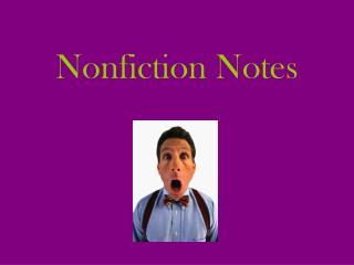Nonfiction Notes