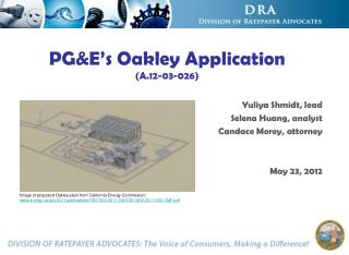 PGE s Oakley Application A.12-03-026
