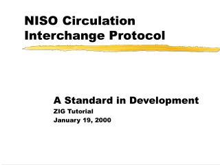NISO Circulation Interchange Protocol