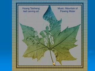 Huang Taisheng leaf carving art