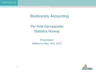 Biodiversity Accounting