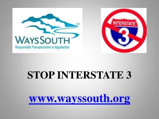 STOP INTERSTATE 3