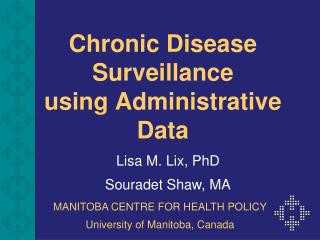 chronic disease surveillance  using administrative data