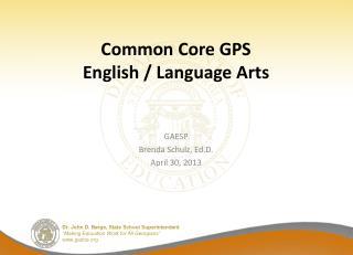 Common Core GPS English
