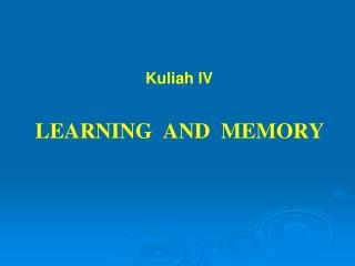 Kuliah IV