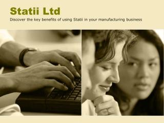 Statii Ltd's Presentation